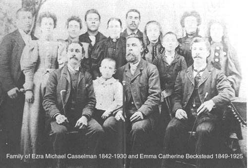 Family of Ezra Michael and Emma catherine Beckstead
